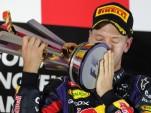Sebastian Vettel after winning the 2013 Formula One Singapore Grand Prix