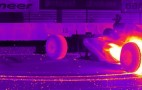 Red Bull F1 Car Goes Technicolor With Tire-Melting Infrared Burnout: Video