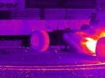 Sebastian Vettel does massive F1 burnout on FLIR infrared