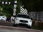 Sebastian Vettel drives his custom Infiniti FX at the 2012 Goodwood Festival of Speed