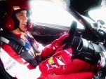 Sebastian Vettel drives the Ferrari FXX K