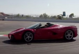 Sebastian Vettel in the Ferrari LaFerrari Aperta