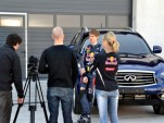 Sebastian Vettel, Infiniti's new pitch man, on location in Spain.