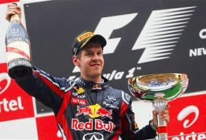 Sebastian Vettel Winning the Indian Grand Prix