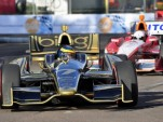 Sebastien Bourdais leads EJ Viso at St Petersburg - Anne Proffit photo