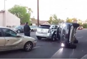 Self-driving Uber prototype involved in a crash in Tempe, Arizona