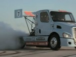 Nitrous Laden Semi Goes Drifting Gymkhana Style: Video