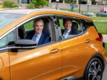 Senator Rob Portman drives Chevrolet Bolt EV