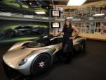 Serena Williams with a near production-ready Aston Martin Valkyrie