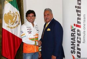 Sergio Perez and Force India boss Vijay Mallya