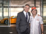 Sergio Perez's first day at McLaren