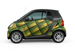 If No One Notices Your Smart ForTwo, Why Not Wrap It In Plaid?