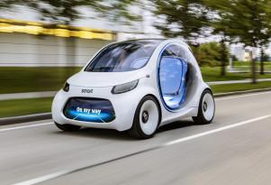 Smart Vision EQ ForTwo concept, 2017 Frankfurt auto show