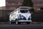 Classic 1966 VW Bus With Green Drivetrain: Solar-Powered Electric Motor