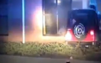 15-Year Old Teen Girl Steals Jeep, Crashes Into Church: Video