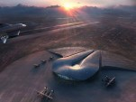 Spaceport America, rendered by Foster + Partners