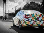 Specially wrapped 2015 Subaru Legacy by designer Mondo Guerra (photo: Nick D'Amico & Dana Slifer)