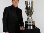 Stenhouse Jr with his Nationwide Series trophy - photo courtesy NASCAR