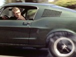 Steve McQueen at the wheel of the 'Bullit' Mustang
