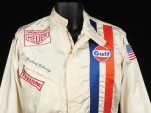 "Steve McQueen's Nomex suit from ""Le Mans.""  Image: Profiles In History"