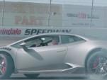 Stina Hubinette drifts her Lamborghini Huracan 580-2