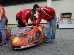 Student team vehicles at the 2015 Shell Eco Marathon Americas
