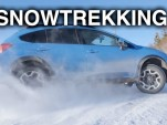 Snow trekking with Subaru's AWD system in snow