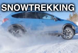 Snow trekking with Subaru's AWD system in snow