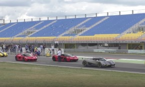 Supercar meetup with Pagani, Ferrari, McLaren cars