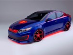 Superman-inspired Kia Optima Hybrid