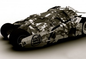 Team Galag Tumbler Batmobile sketch