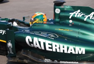 Team Lotus F1 car with new Caterham livery