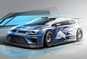 Teaser for 2017 Volkswagen Polo R WRC rally car