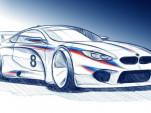 Teaser for 2018 BMW M8 race car