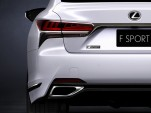 Teaser for 2018 Lexus LS 500 F-Sport debuting at 2017 New York auto show