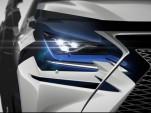 Teaser for 2018 Lexus NX debuting at 2017 Shanghai auto show