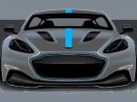 Teaser for Aston Martin RapidE debuting in 2019