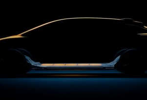 Teaser for Faraday Future's first model