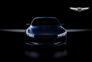 Teaser for Genesis concept debuting at 2016 New York Auto Show