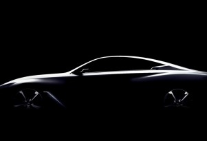 Teaser for Infiniti Q60 concept debuting at 2015 Detroit Auto Show