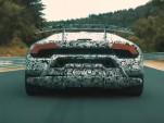 Teaser for Lamborghini Huracán Performante debuting at 2017 Geneva auto show