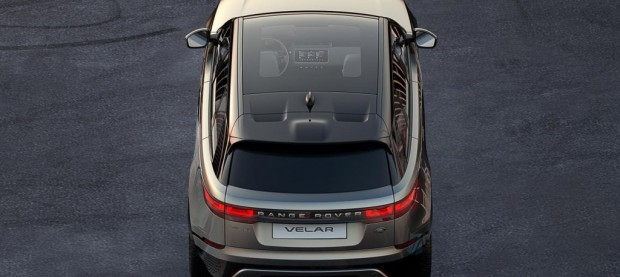 Teaser for Land Rover Range Rover Velar debuting at 2017 Geneva auto show