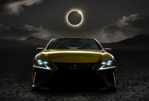 Teaser for Lexus LF-C2 concept debuting at the 2014 Los Angeles Auto Show
