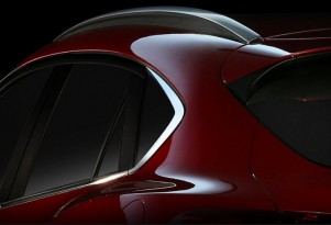 Teaser for new Mazda CX-4 debuting at 2016 Beijing Auto Show