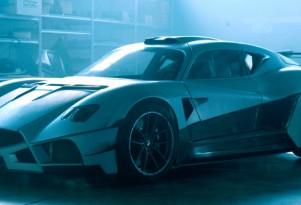 Teaser for Mazzanti Evantra Millecavalli debuting at 2016 Turin Auto Show