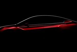 Teaser for Subaru Impreza Sedan concept debuting at 2015 Los Angeles Auto Show