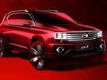 Teaser for Trumpchi GS7 debuting at 2017 Detroit auto show