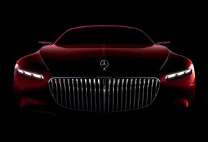 Teaser for Vision Mercedes-Maybach 6 concept debuting at 2016 Pebble Beach Concours d'Elegance