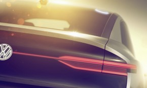 Teaser for Volkswagen ID SUV Concept debuting at 2017 Shanghai auto show