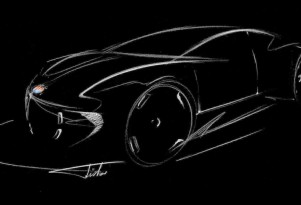 Teaser sketch on Fisker website